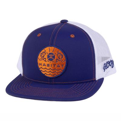 Hooey Men's Blue White and Orange Element Cap