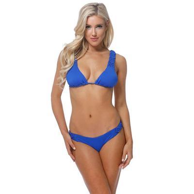 Beach Joy Women's Macrame Bikini Set BLUE