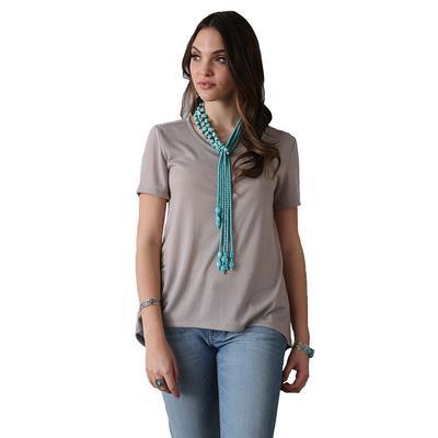 Cruel Girl Women's Lace-Up Back Sweater Top