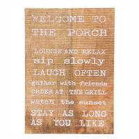 Mud Pie's Distressed Wood Porch Sign