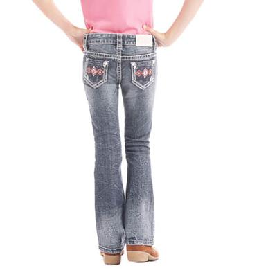Rock & Roll Denim Girl's Pink Diamond Stitch Jean