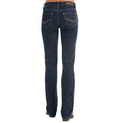 Rock & Roll Denim Women's Check Mark Embroidered Boyfriend Jean