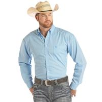 Panhandle Men's Light Blue Printed Button Down Shirt