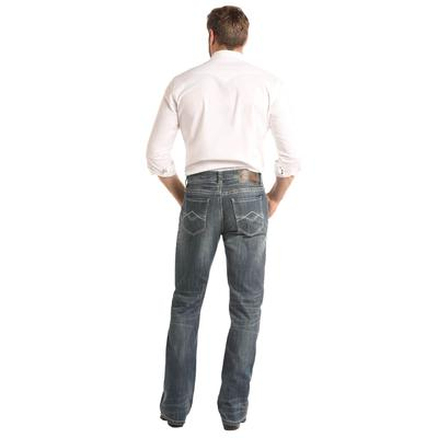 Rock & Roll Denim Men's Dark Vintage Double Barrel Straight Jeans