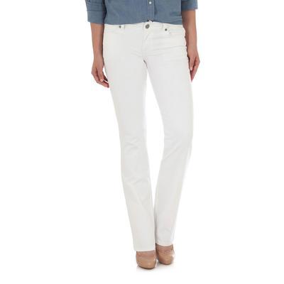 Wrangler Women's White Mid Rise Jean