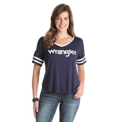 Wrangler Women's V-Neck Baseball T-Shirt