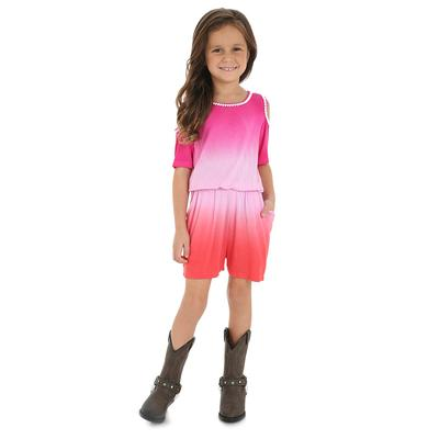 Wranler Girl's Cold Shoulder Ombre Romper