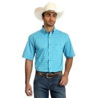 Wrangler Men's Turquoise Print Shirt