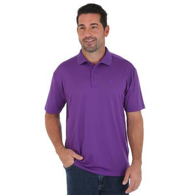 Wrangler Men's Purple George Strait Performance Polo