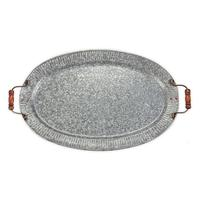 Mud Pie's Galvanized Tin Fluted Tray