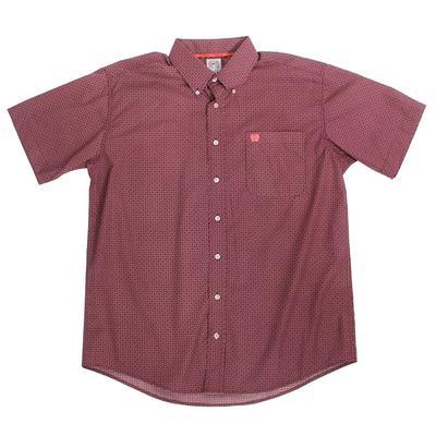 Cinch Men's Berry Printed Short Sleeve Shirt