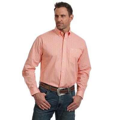 Wrangler Men's Orange 20X Competition Advance Comfort Shirt