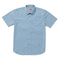 Wrangler Men's Blue and White Plaid Rugged Wear Shirt