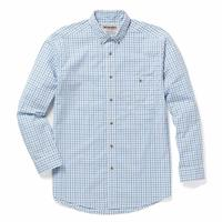 Wrangler Men's Blue Plaid Wrinkle Resistant Rugger Wear Shirt