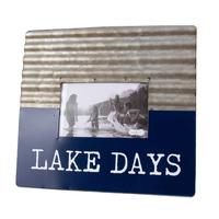 Mud Pie's Lake Days Tin Frame