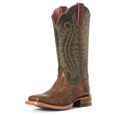 Ariat Women's Brown Floral Montage Boot