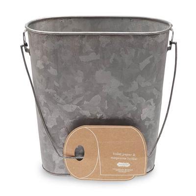 Mud Pie's Tin Bucket Toilet Paper Holder