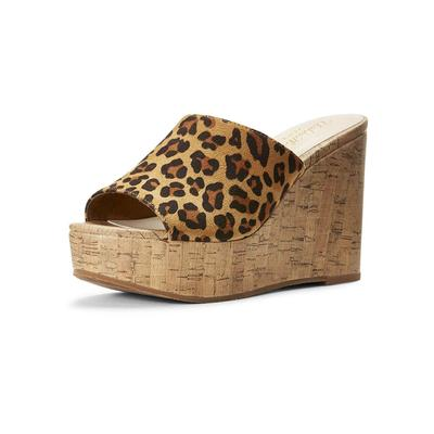 Ariat Women's Leopard Suede Unbridled Layla Wedge