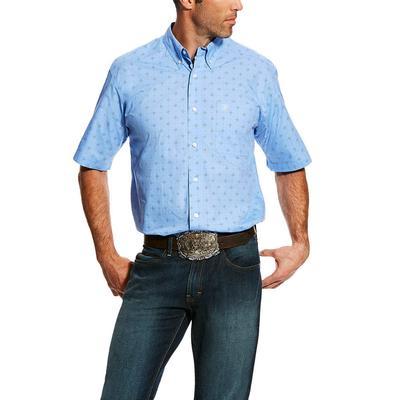Ariat Men's Bright Indigo Dantos Print Shirt