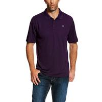 Ariat Men's Purple Pennant Tek Polo