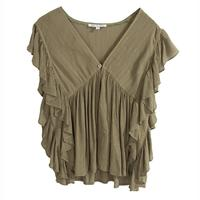 JoyJoy Women's Olive Empire Top