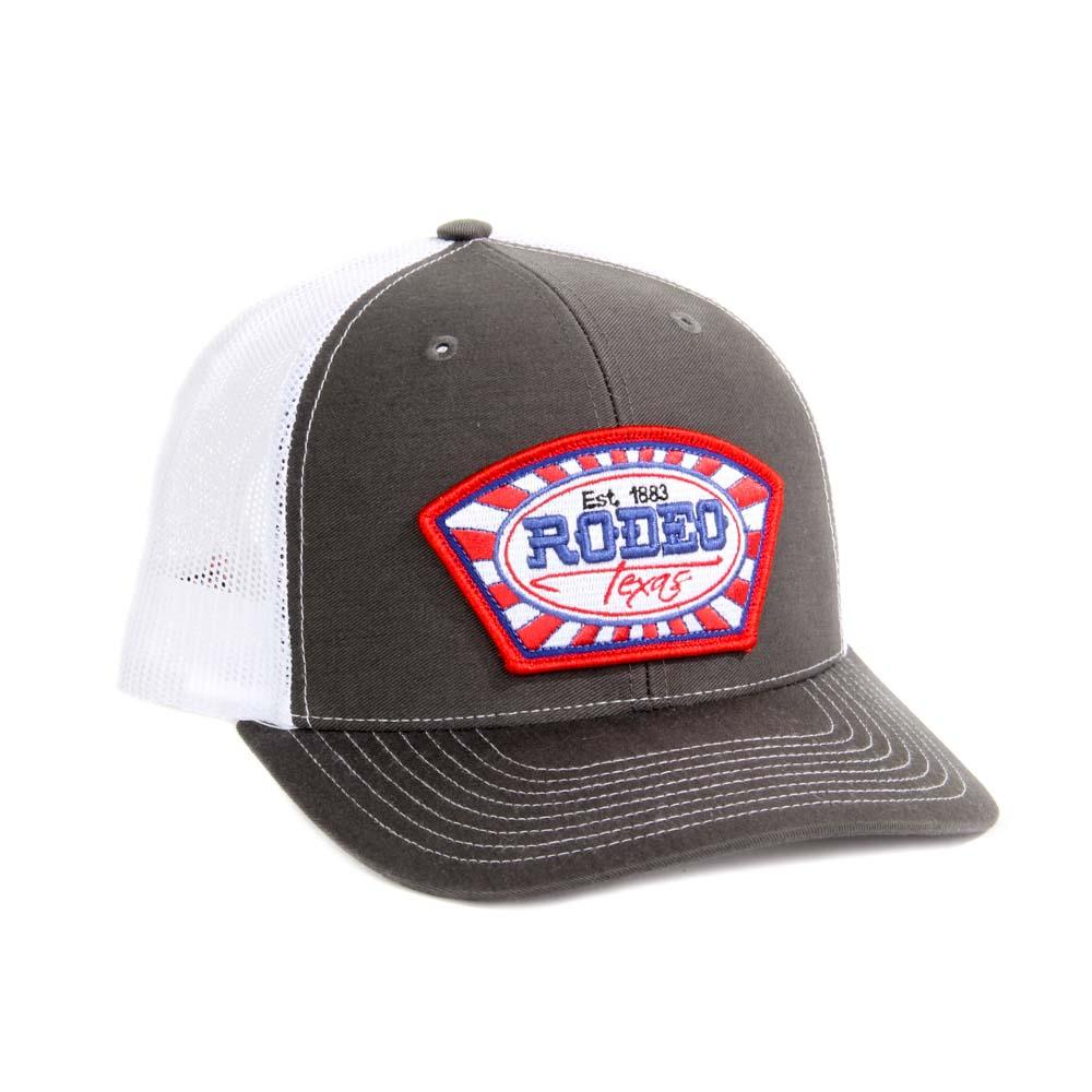 Red Dirt Hat Co Mens Charcoal And White Rodeo Texas Cap