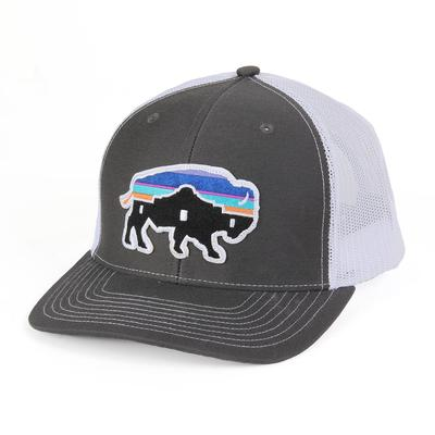 124d39d3ae1 Red Dirt Hat Co. s Charcoal and White Alamo Buffalo Cap