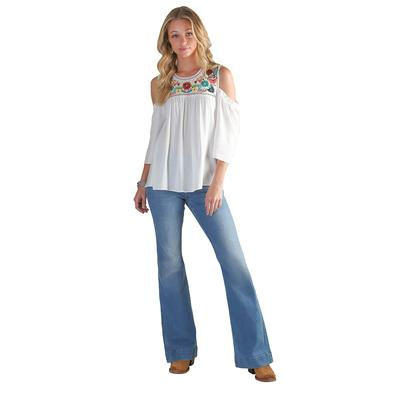 Wrangler Women's Retro High Rise Trouser Jeans