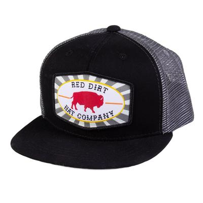 Red Dirt Hat Co.'s Youth Charcoal and Black Beachnut Cap