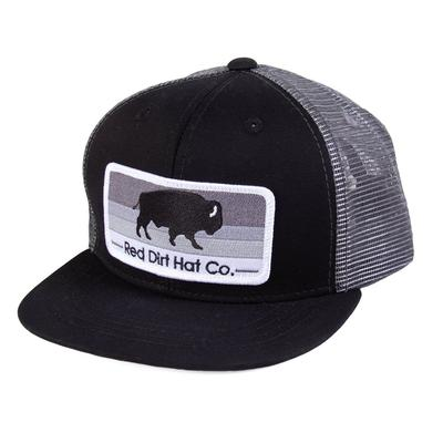 Red Dirt Hat Co.'s Youth Charcoal and Black Stoney Cap