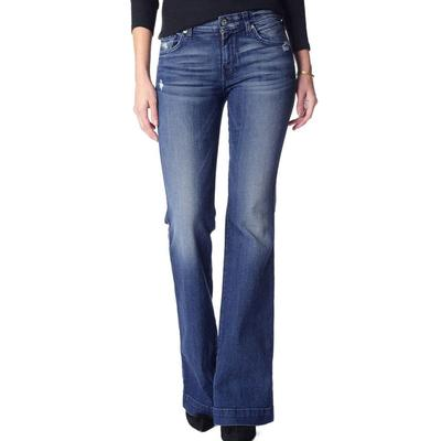 Seven For All Mankind Women's Dojo Original Trouser In Lake Blue