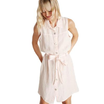 Bella Dahl Women's Sleeveless Belted Shirt Dress BARLEYPINK