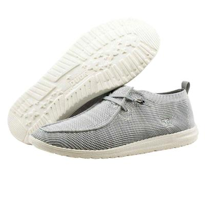 Hey Dude Men's Wally Knit Light Grey Shoe