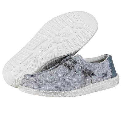 Hey Dude Men's Wally Grey Shoe