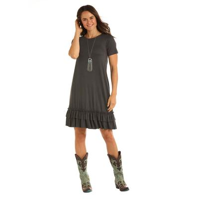 37dcfd79c337 Panhandle Women's Short Sleeve Knit Swing Dress