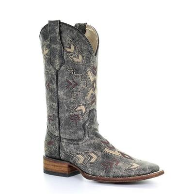 Corral Women's Distressed Arrowhead Squared Toe Boot