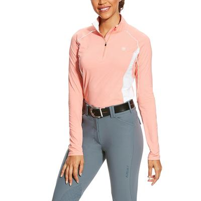 Ariat Women's Peach Twig Tri Factor 1/4 Zip Pullover PEACHTWIG