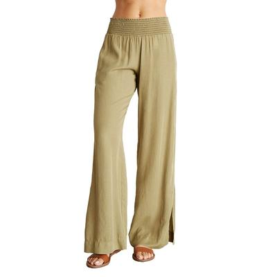 Bella Dahl Women's Smocked Waist Wide Leg Pants
