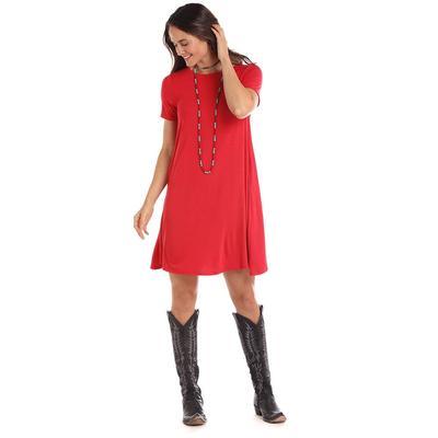 Panhandle Women's Short Sleeve Knit Swing Dress