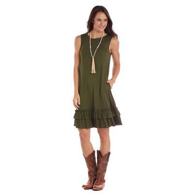 Panhandle Women's Sleeveless Knit Swing Dress