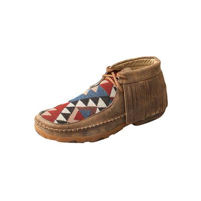 Twisted X Women's Graphic Pattern Fringe Driving Moccasins