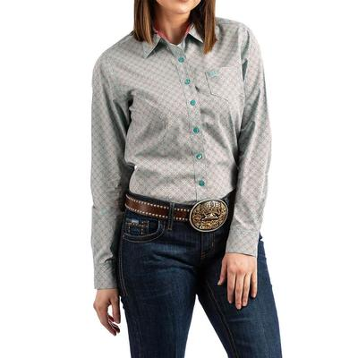 Cinch Women's Long Sleeve Button Down Top