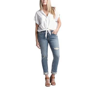Silver Jeans Women's Elyse Ankle Slim Jeans