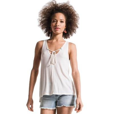 Z Supply Women's The Micro Rib Tie-Front Tank Top