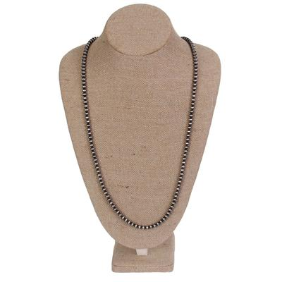 Navajo Pearl 6 MM Beaded Necklace