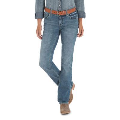 Wrangler Women's Mid Rise Straight Leg Jeans