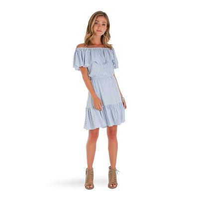 Wrangler Women's Off The Shoulder Maxi Dress