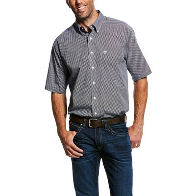 Ariat Men's Short Sleeve Wrinkle Free Button Down Shirt