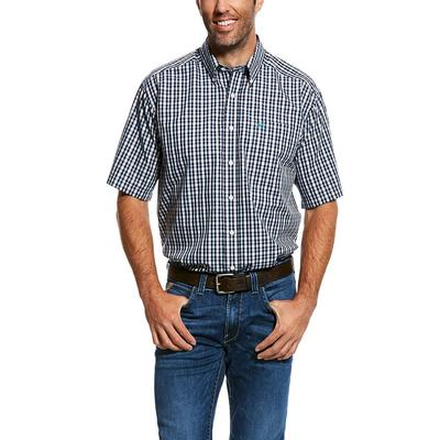 Ariat Men's Short Sleeve Wrinkle Free Button Down Shirt