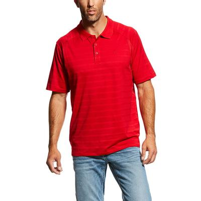 Ariat Men's Short Sleeve Polo Striped Shirt
